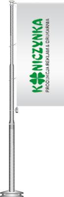 Maszt flagowy z aluminium baner