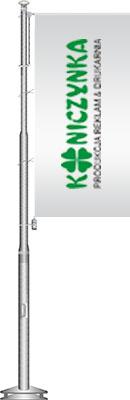 Maszt flagowy z aluminium z zamkiem i wintrackerem