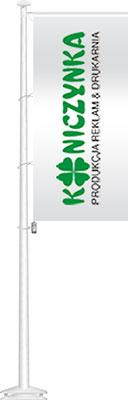 Maszt flagowy z włókna szklanego baner