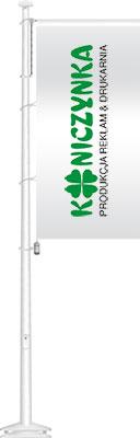 Maszt flagowy z włókna szklanego z zamkiem i wintrackerem